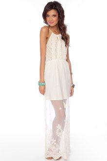 white maxi with laceee