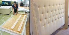 Casa Marceneiro : Como fazer cabeceira capitone estofada de cama box - passo a…