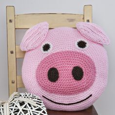 Pig Cushion Crochet Kit