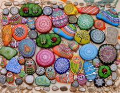 Hand painted pebbles and rocks https://www.facebook.com/ISassiDelladriatico