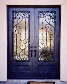 entry doors with iron and glass | Iron Doors ~ Custom Glass Doors