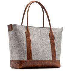 Grey Boat Bag - Tan Leather | Graf & Lantz