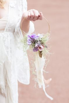 a hoop makes a stunning alternative to a bouquet