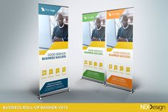 Business Roll-Up Banners - v013 by NEXDesign on @creativemarket