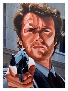 Clint Eastwood, Dirty Harry, x Pop Art Print Suitable for Framing, Super Hero Wall Art, Uniq Old Film Stars, Movie Stars, Helloween Wallpaper, Actor Clint Eastwood, American Flag Wallpaper, Best Movies List, Superhero Wall Art, Celebrity Caricatures, Painting People