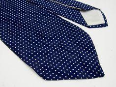 1940s Tie / 40s Neck Tie / Tie by Cades in Navy by 4birdsvintage