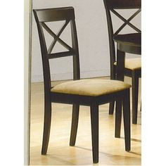 """Set Of 4 Chairs In A Rich Cappuccino Finish """"new"""" $100.90"""