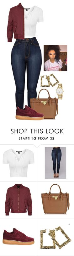 """""""Untitled #2088"""" by basnightshine1015 ❤ liked on Polyvore featuring Topshop, WearAll, Michael Kors, NIKE, Kate Spade, men's fashion and menswear"""