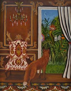 Fox Hole, painting by artist Catherine Nolin