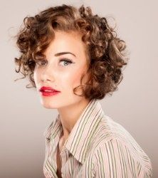 short curly hair.  Jim would hate it, but it's soooooo tempting!