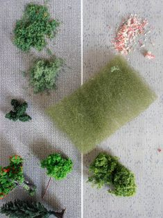 dolls houses and minis: How To Make a million things. This pic has to do with creating landscaping from the first step.