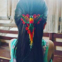 Seed Bead Jewelry, Seed Beads, Beaded Jewelry, Jewelry Patterns, Beading Patterns, Barrette, Hair Ties, Beadwork, Inspire