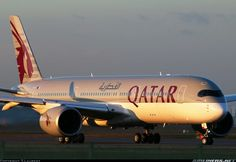F-WZFA    Airbus A 350 handed over to Qatar Airways    (to be registered A7- ALA)       Preparing for Dusk takeoff      reposted from Armchair Aviator on  Google+