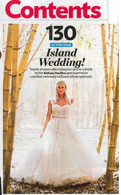 Bethany Hamilton gets married! What a fairy tale wedding! Look at that gorgeous dress!