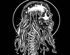 Skull Illustration, Wacom Intuos, Scary, Horror, Behance, Graphic Design, Fine Art, Abstract, Gallery
