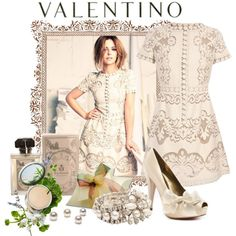 Dulce by flowerchild805 on Polyvore featuring moda, Valentino, Paris Hilton, Miu Miu, Origins and Carthusia