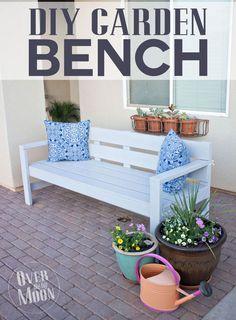 DIY Garden Bench | Over the Big Moon