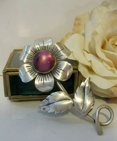 Retro Sterling Silver Coro Craft Flower Pin by Sisters2Vintage, $45.00