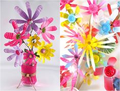 Recycling basteln pet flaschen  Recycling with children - 13 creative ideas for every season | craft ...