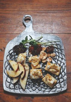Black and White Lace Printed Ceramic Charcuterie Plate // Cheese & Meat Serving Plate. $45.00, via Etsy.