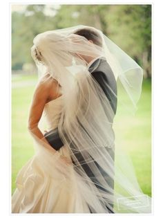 I like the veil placement.