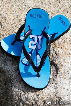 We can't wait to hit the beach this summer in our personalized lacrosse flip flops!