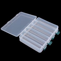 19.5*16.5*4.5cm 12 Compartment Double Sided Fishing Lures Tackle Hooks Baits Case Storage Box new arrival