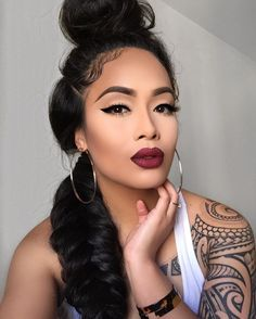 """8,693 Likes, 118 Comments - gwendolynlaumatia@gmail.com (@gwendolyn_laumatia) on Instagram: """"It's officially my birthday month! . @morphebrushes lipstick in Hollywood Nights enter…"""""""