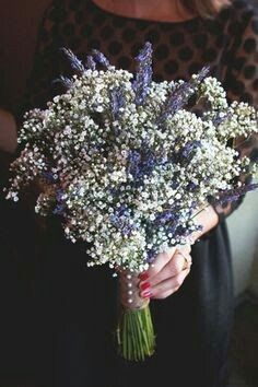 Lavender and babies breath