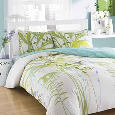 Add the perfect finishing touch to any bedroom with this bold three piece comforter set. It has a colorful floral print combined with a soft construction that you will love cuddling up with at the end of the day. It comes with a comforter and shams.