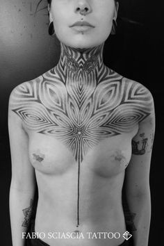 Fascinating chest and neck piece by Fabio Sciascia...