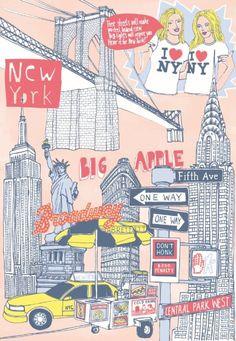 Digitaldruck - New York - ein Designerstück von FraukeeS bei DaWanda
