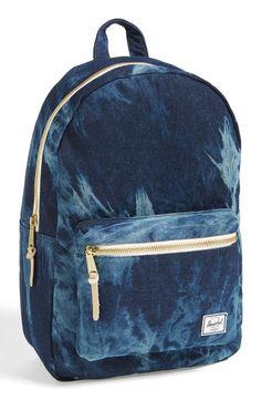 Distressed denim Herschel backpack