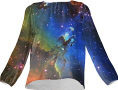 Eagle Galaxy Silk Top - Available Here: http://printallover.me/collections/sondersky/products/0000000p-eagle-galaxy-7