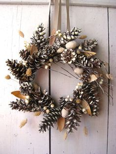 Holiday Wreath  Christmas Wreaths  Winter Decor  by TheLinnetsWing, $64.00