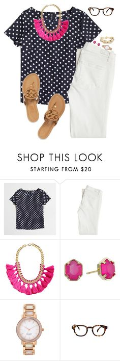 """Longing for Summer"" by sc-prep-girl ❤ liked on Polyvore featuring J.Crew, Paige Denim, Tory Burch, H&M, Kendra Scott, Kate Spade and ZENTS"