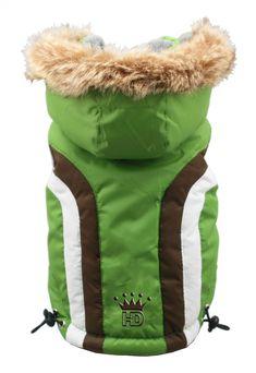 Hip Doggie Swiss Alpine Hooded Jacket in Color Green