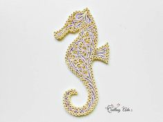Quilled paper Seahorse-paper art-home decor-summer ornament