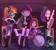MLP heavy metal by on DeviantArt My Little Pony Twilight, My Little Pony Cartoon, My Little Pony Pictures, Cartoon Kunst, Cartoon Art, Heavy Metal, Unicornios Wallpaper, Adventure Time Girls, Arte Do Kawaii