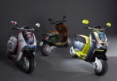 Mini-Roller-Trio: Gleich drei Elektroroller hat die BMW-Marke Mini entwickelt....