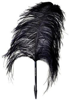 Stylo Plume d'autruche Noir - Martin Margiela X L'atelier d'exercices