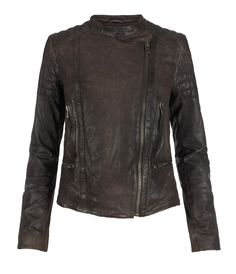 Bamlet Leather Jacket, Women, Leather, AllSaints Spitalfields