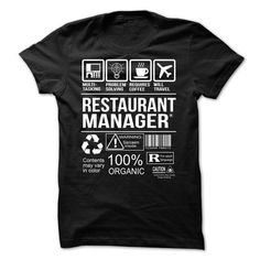 Restaurant Manager T-shirt T-Shirts, Hoodies (21.99$ ==► Order Here!)