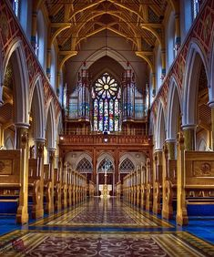 The organ in St. Peter's Cathedral, Belfast, Ireland
