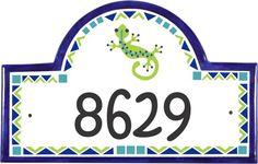 Classy Plaques Store - Gecko Address Plaques, $169.00 (http://www.classyplaques.com/gecko-address-house-number-plaques/)