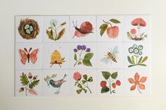 Illustrated woodland memory game set limited edition by oanabefort