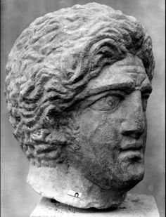 History of #Macedonia, a kingdom of Ancient #Greece - Late Antique 5th century CE head of Alexander the Great stolen from Ostia Museum - sources:  Bread and Circuses - Adventures in the later Roman Empire by historian Adrian Murdoch