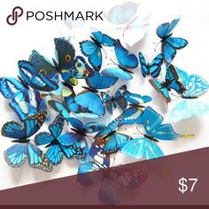 🎉🎉Cutie Pie🎉🎉 Very cute very nice butterflies, these are magnetic and they also come with sticky pads for all surfaces Accessories