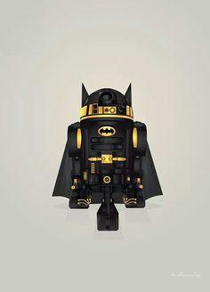 This.  #Batman #R2D2 #Starwars #droid