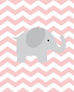 Baby Girl Nursery Art Chevron Elephant Nursery by SweetLittleBarn Baby Nursery Diy, Elephant Nursery, Baby Elephant, Nursery Art, Girl Nursery, Diy Baby, Baby Decor, Kids Decor, Baby Posters